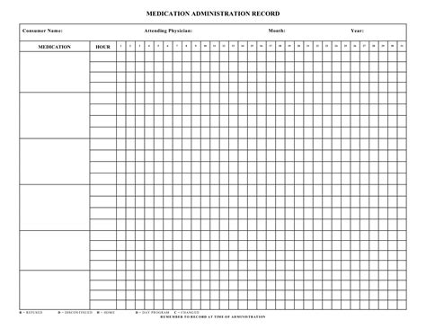 medication signing sheet template 9 best images of printable medication administration