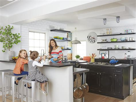 family friendly kitchen with open shelving kitchen ideas design with cabinets islands