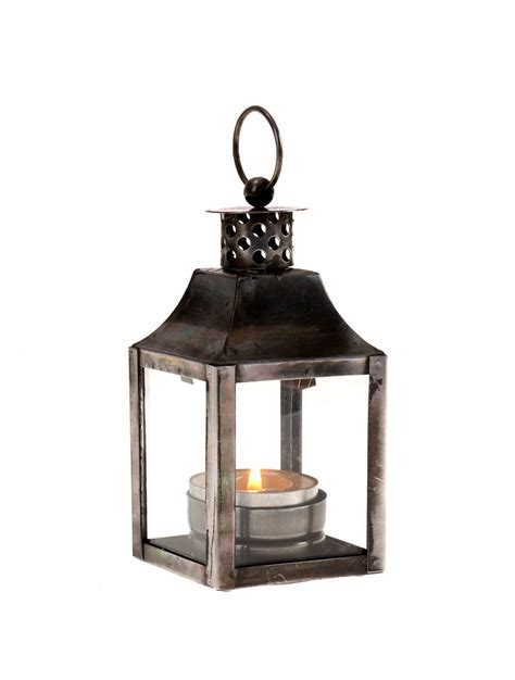 casa uno metal and glass lantern square silver outdoor