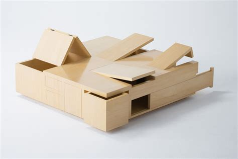 Cool Wooden Coffee Tables Unique Wooden Coffee Table With Mini Storage Compartments Idesignarch Interior