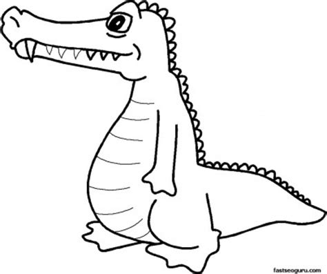 coloring pages alligator print  pictures