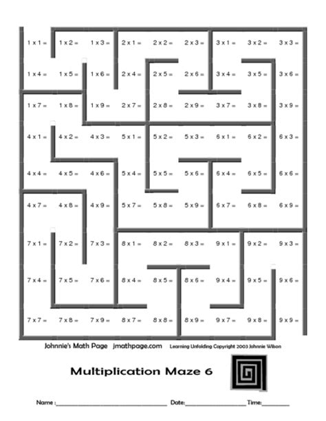 printable mazes for grade 6 math maze worksheets math maze worksheets middle school