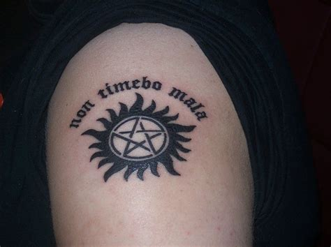 supernatural chest tattoo supernatural non timebo mala www pixshark