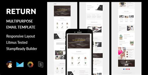 Return Multipurpose Responsive Email Template Stready Builder By Guiwidgets Return Email Template