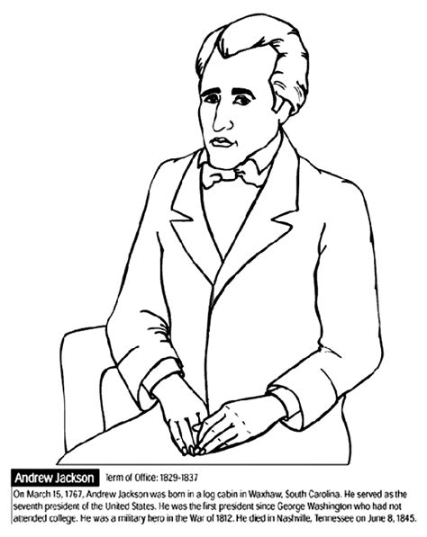 march coloring pages crayola u s president andrew jackson crayola ca