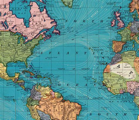 world city map prints world map atlas vintage world map 1897 mercator