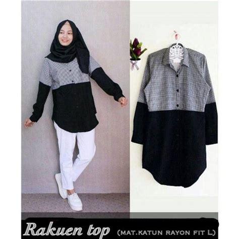 Baju Murah Top Black baju rakuen top grosir baju muslim pakaian wanita dan busana murah