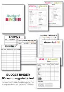 budget pages template printable budget binder