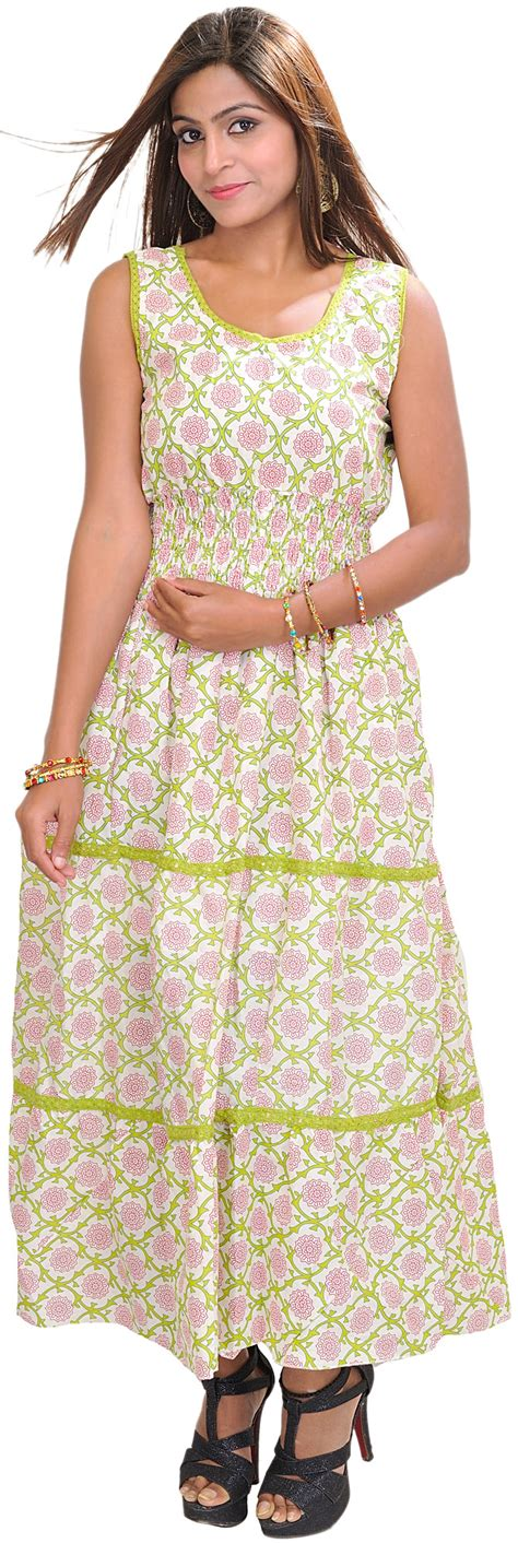 Bright Floral Maxi Dress - bright white maxi dress with floral print