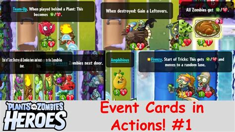 pvz hereos card template event cards in actions 1 plants vs zombies heroes