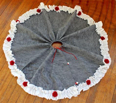 diy tree skirt beautifully skirting for your festive tree