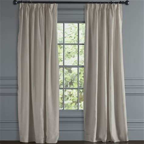 williams sonoma curtains belgian linen pinch pleat drape 84 quot natural williams
