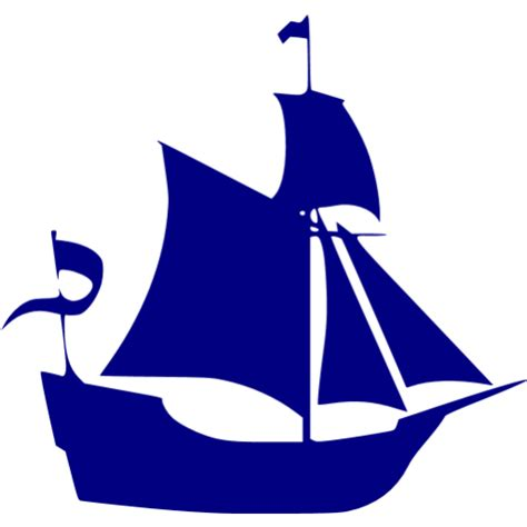 boat icon yellow navy blue boat 9 icon free navy blue boat icons