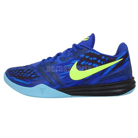 blue nike basketball shoes nike kb mentality blue volt mens basketball shoes