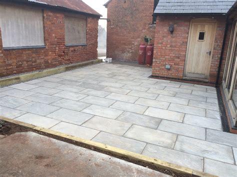 Patio Sandstone by Grey Indian Sandstone Patio Redmarley Gloucestershire