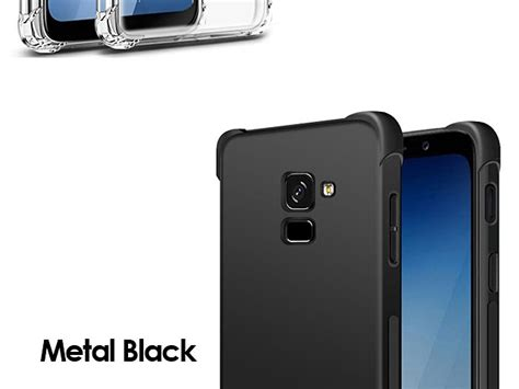 Imak Leather Back Samsung A8 Black imak shockproof tpu soft for samsung galaxy a8 2018