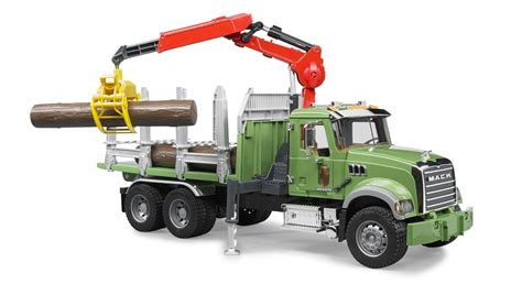 bruder truck bruder 02824 mack granite timber truck with 3 logs
