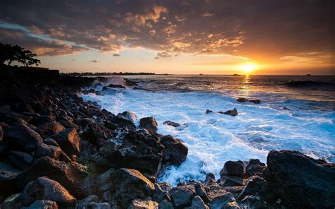 pretty wall paper hawaii sunset wallpapers wallpaper cave