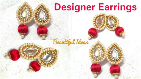 jewelry at home how to make silk thread designer earrings paper designer