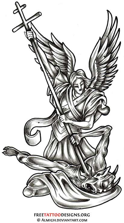 fallen angel clipart archangel pencil and in color