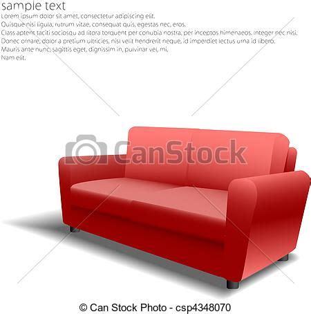 disegno divano clipart vettoriali di divano disegno eps10 rosso