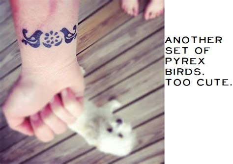 pyrex pattern tattoo tattoosday pattern lovers they call me fearsy