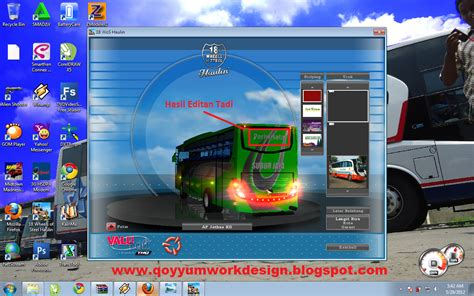 mod game haulin bus indonesia tutorial mengedit skin bus mod game 18 wheels of steel haulin