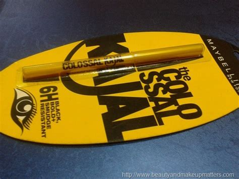 Eyeliner Colossal Kajal Maybelline Rs 150 maybelline colossal kajal review swatches eotd fashion lifestyle