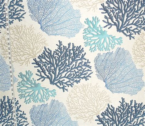 coastal fabrics for upholstery blue coral fabric aqua ocean coastal beach cottage home