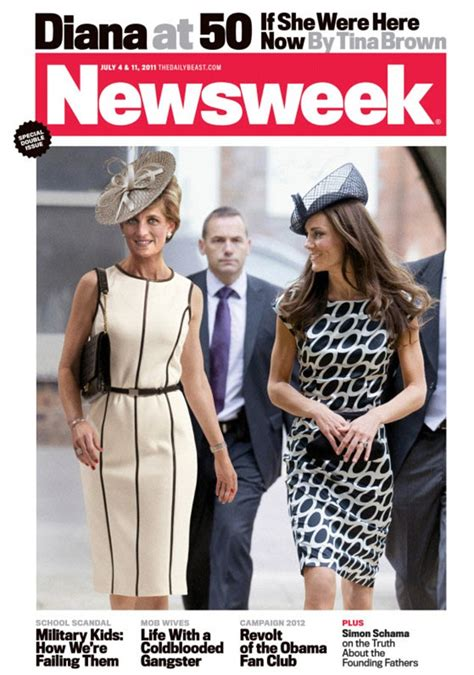 Diana At 50 newsweek princess diana aged 50 with kate middleton cover