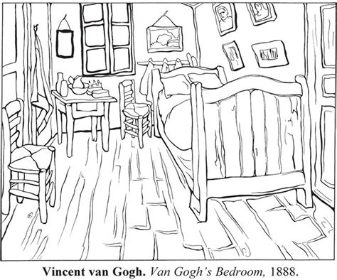van gogh bedroom coloring page 17 best images about van gogh on pinterest starry nights