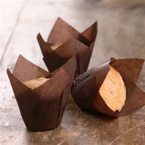 tulip muffin papers brown set of 24