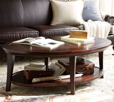 Metropolitan Oval Coffee Table Pottery Barn Potterybarn Coffee Table