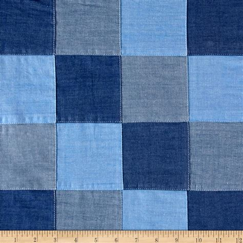 Patchwork Denim Fabric - kaufman essex linen blend discount designer fabric