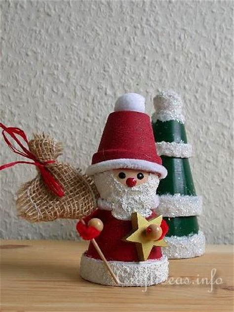 christmas crafts for adults free craft project clay pot santa