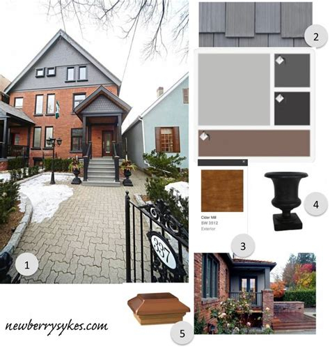 exterior color scheme for red brick and grey roof 138 best colour images on pinterest exterior colors