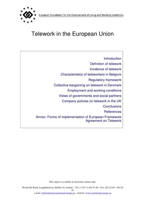telework in the european union gt gt 23 great telework