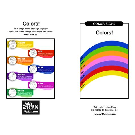 asl colors asl colors printable book