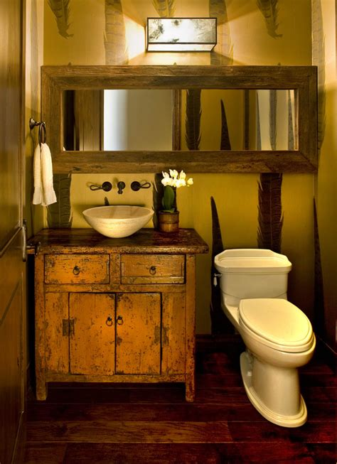 Rustic Bathroom Vanity Ideas Bathroom Vanities Ideas Powder Room Rustic With Bathroom Lighting Bathroom Mirror