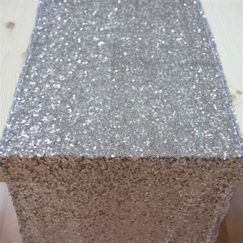 silver glitter table runner sequin table runner silver 403959