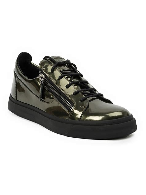 giuseppe sneakers for giuseppe zanotti zip detail low sneakers in green for