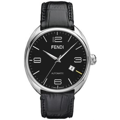fendi fendimatic automatic leather black mens f200011011