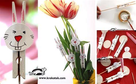 Living Room Vase Decoration Diy Easter Bunny Clothespins Home Design Garden
