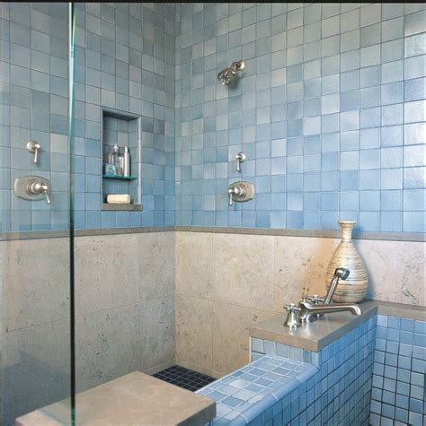 28 blue tile bathroom ideas home blue glass tile blue tiled shower home is where the heart is
