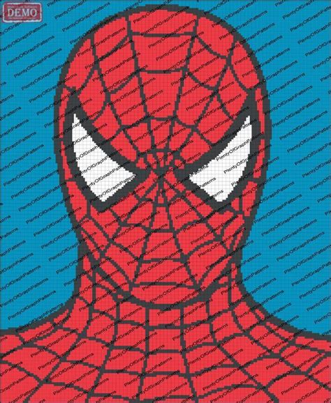 spiderman graph pattern spider man graph pattern by graph patterns craftsy