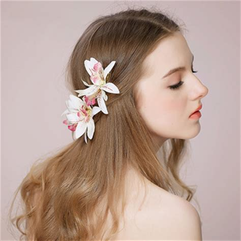 buy lily hair lily flower bridal hair clip wedding hair ornaments hair