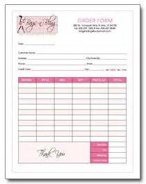 Cake Order Form Templates Free Cupcakes Pinterest Order Form Baking Invoice Template