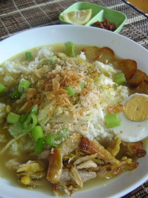 tasty indonesian food soto ayam