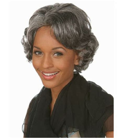 gray hair shoo for women image gallery old wigs for women