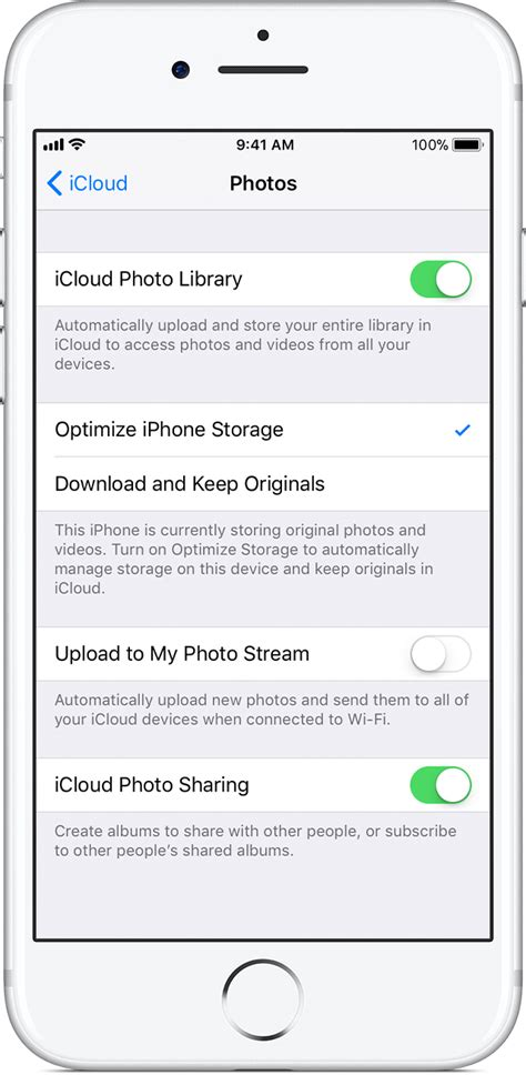 how to optimize photos on iphone icloud photo library apple support